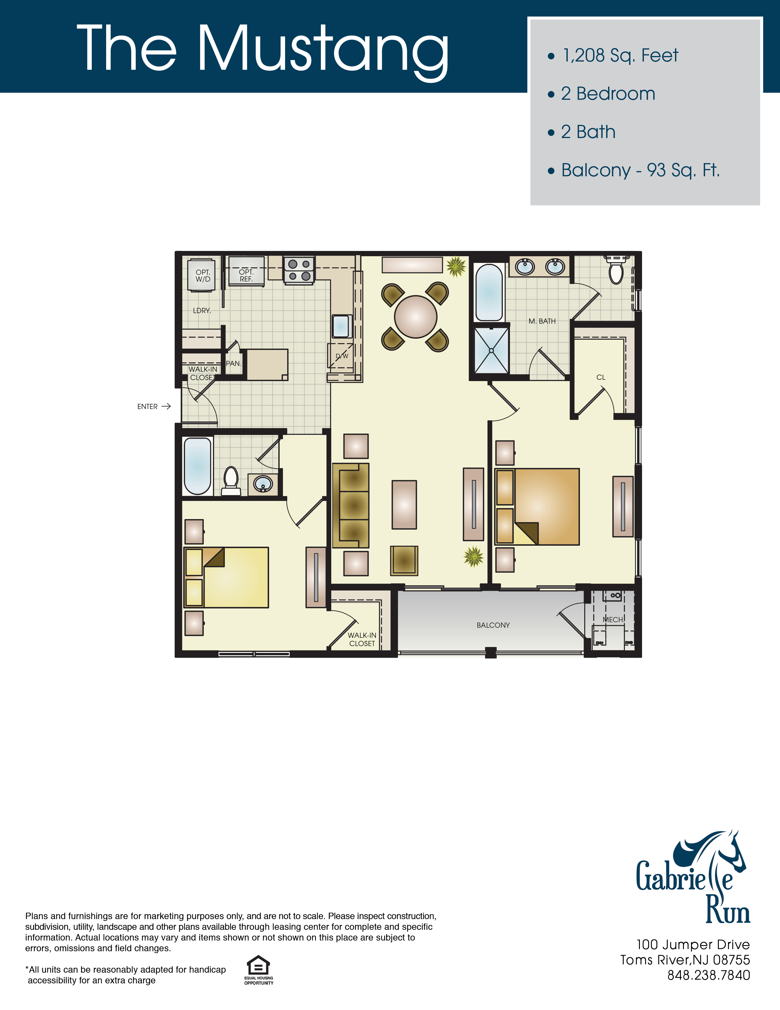 Gabrielle Run Floor Plan Mustang