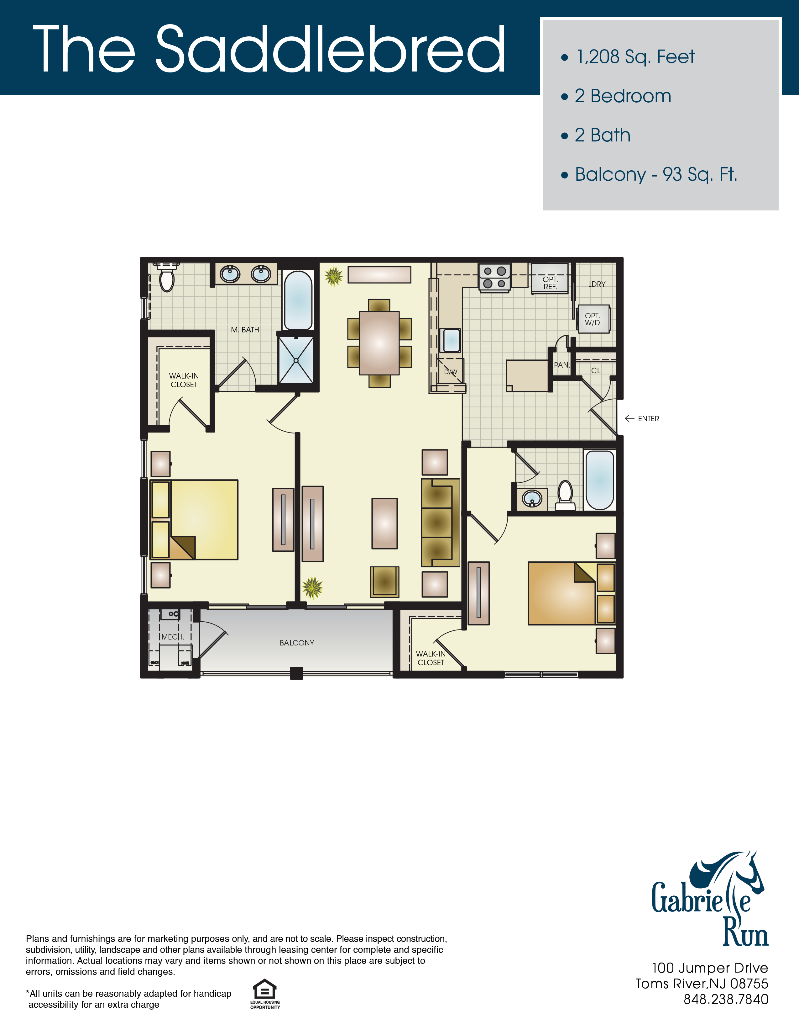 Gabrielle Run Floor Plan Saddlebred