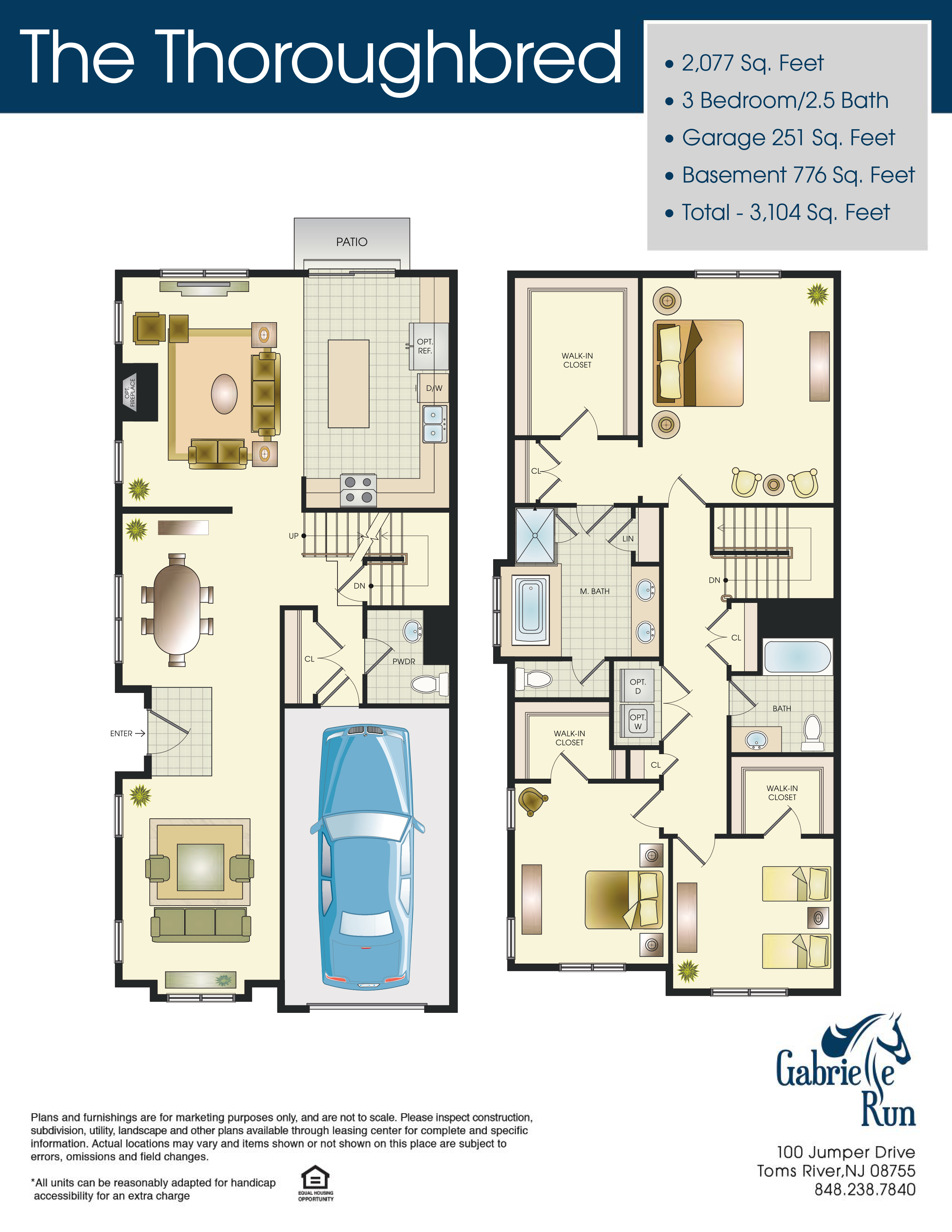 Gabrielle Run Floor Plan The Thoroughbred