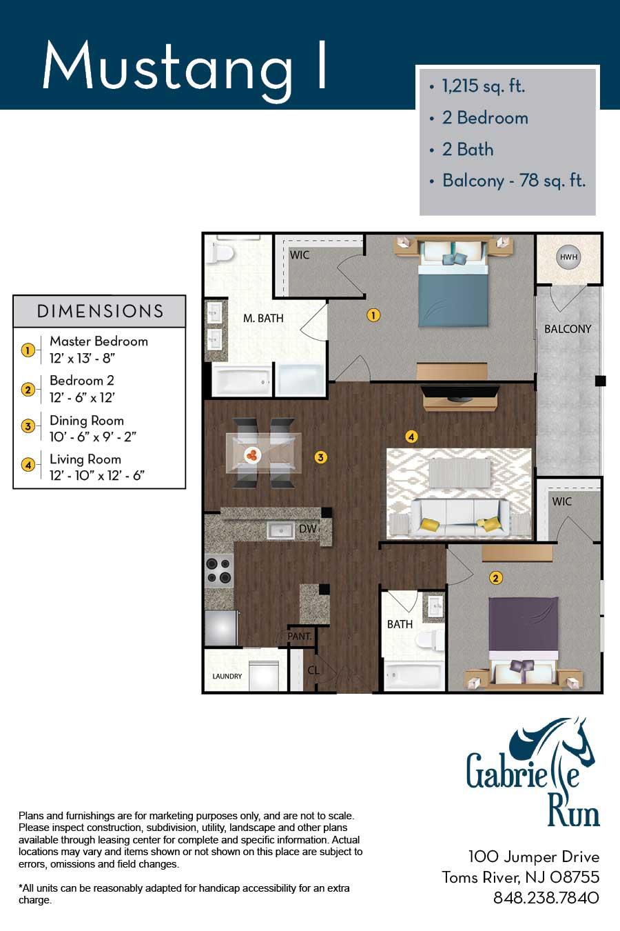 Gabrielle Run Floor Plan Mustang I