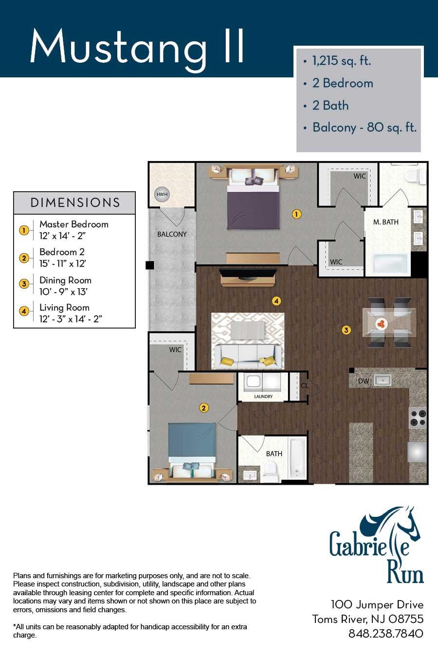 Gabrielle Run Floor Plan Mustang II